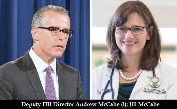 Image result for photos of jill mccabe and andrew mccabe