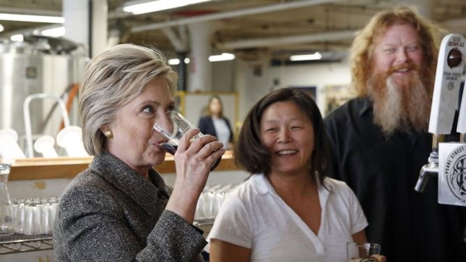 clinton beer wikileaks hillary should host a party, be photographed with a