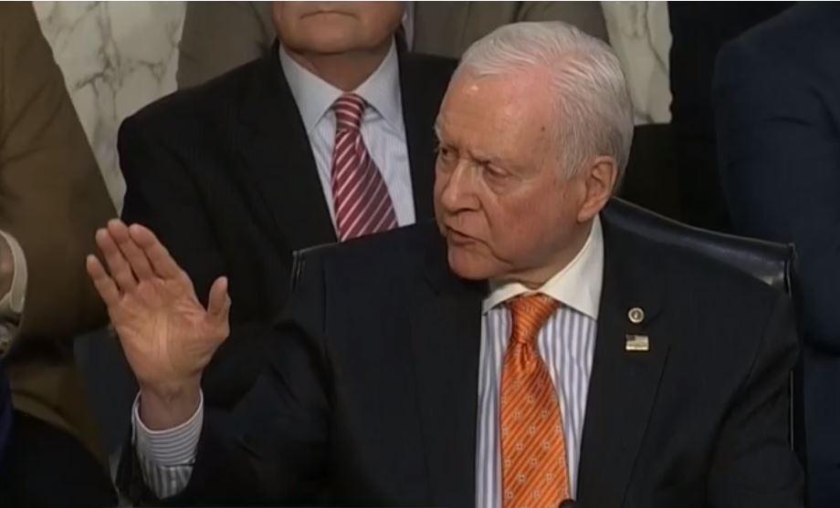 Hatch Tells Democrat Senator Tax-Cut-for-Rich Argument is Bull Cr--