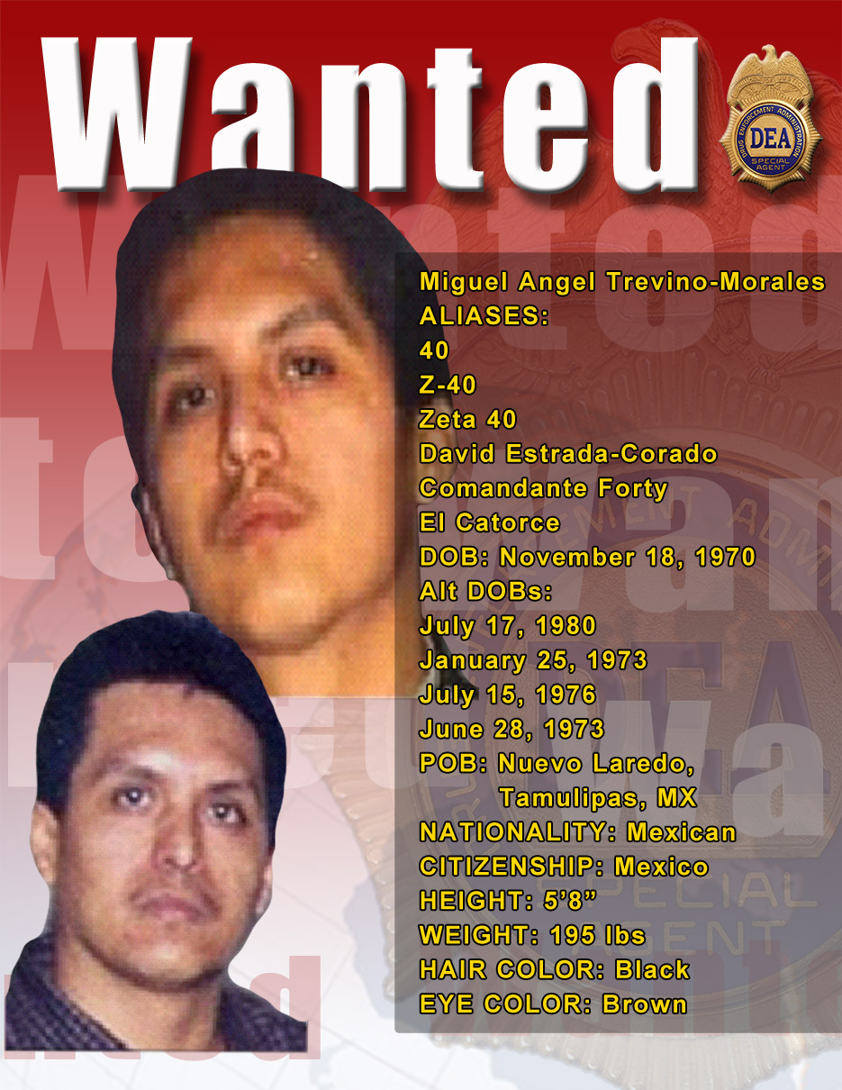DEA Names Eleven 'Most Wanted' Mexican Fugitives Sought by U S