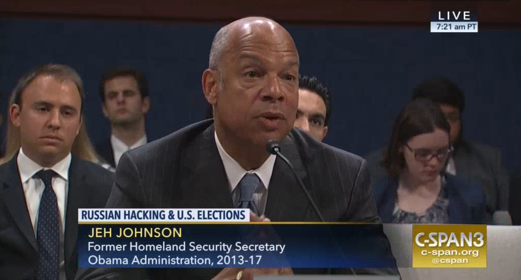 Jeh Johnson: Medias Focus on Access Hollywood Video Trumped Obama Administrations Warning of Russian Cyber Intrusion