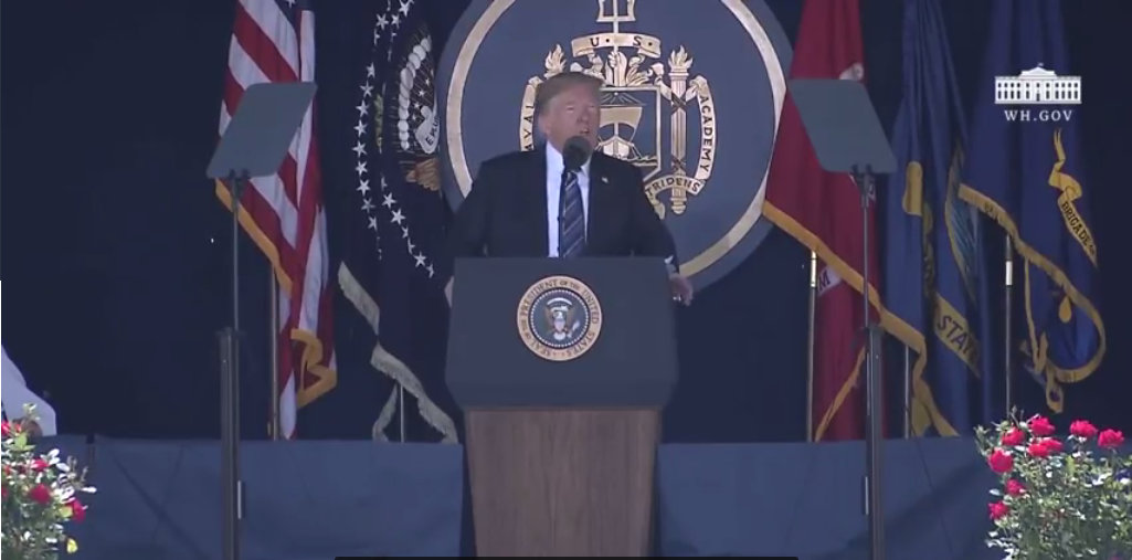 Trump to Naval Academy Grads: We Are Respected Again