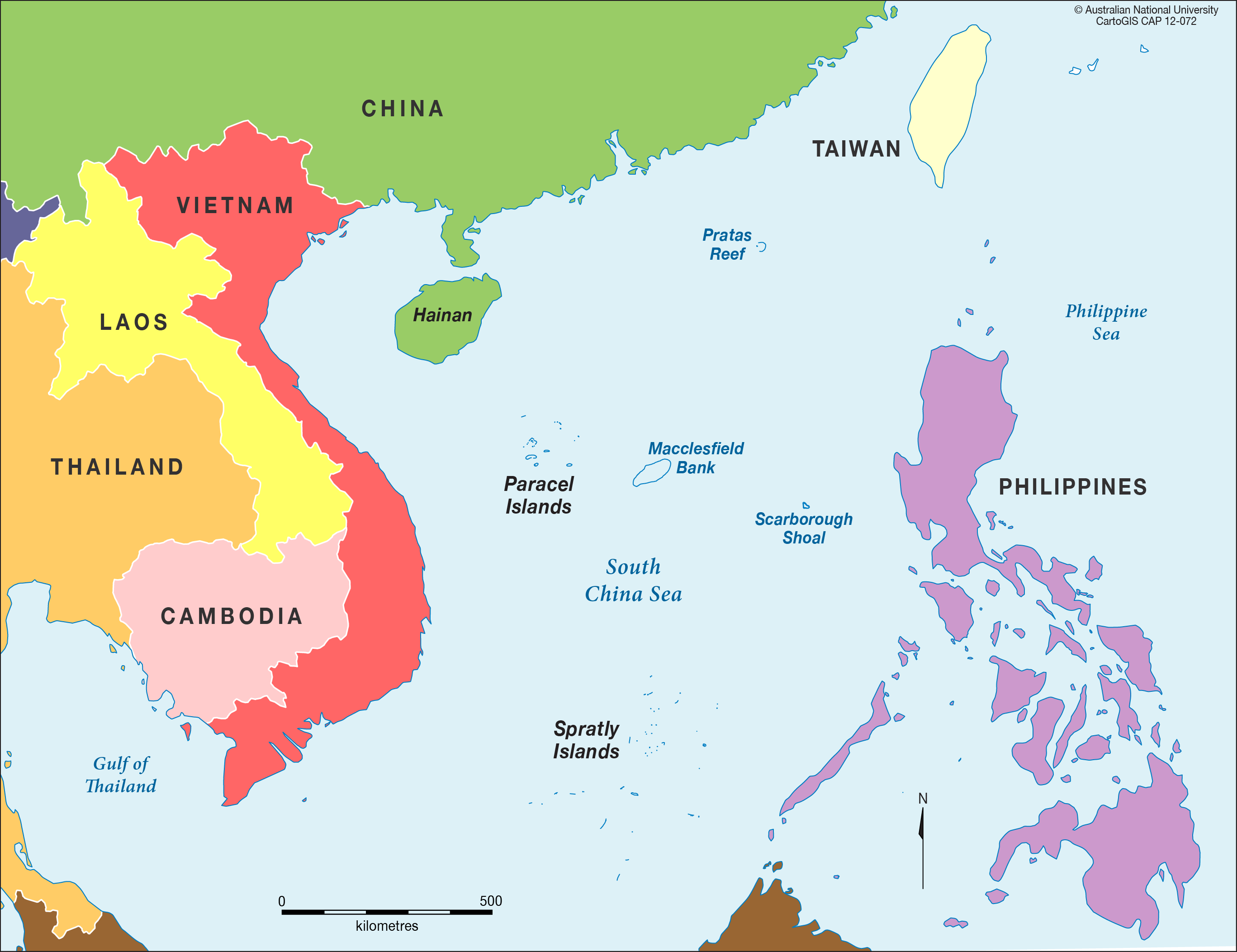 China Sea Islands Maps