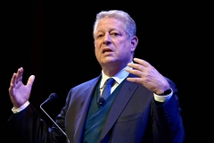 "Former Vice President Al Gore discusses ""Confronting The Climate Crisis: Critical Roles For The U.S. And China"" at Harvard University's Sanders Theatre on April 7, 2016 in Cambridge, Massachusetts. (Photo credit: Paul Marotta/Getty Images)"