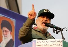 IRGC commander Maj. Gen. Hossein Salami addresses regime supporters in Tehran  last November. (Photo by Atta Kenare/AFP via Getty Images)