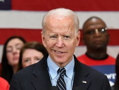 Democrat presidential candidate Joe Biden at a campaign stop in Columbus, Ohio on March 10, 2020, shortly before he went into seclusion at his Delaware home. (Photo by MANDEL NGAN/AFP via Getty Images)