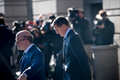Gen. Michael Flynn, former national security advisor to President Donald Trump, leaves Federal Court on December 1, 2017 in Washington, D.C., after pleading guilty to lying about his contacts with the Russian ambassador. (Photo by BRENDAN SMIALOWSKI/AFP via Getty Images)