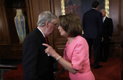 Mitch McConnell and Nancy Pelosi in the U.S. Capitol. (Win McNamee/Getty Images)