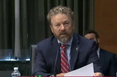 Sen. Rand Paul (R-Ky.) questions Dr. Fauci on the one-size-fits-all approach to reopening schools on May 12, 2020. (Photo: Screen capture)