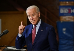 Will Democratic presidential candidate Joe Biden's pitch win over American voters? (Photo credit: MANDEL NGAN/AFP via Getty Images)