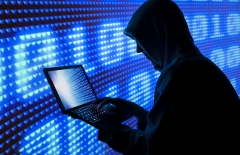 A digital pirate uses the computer. (Photo credit: Bill Hinton/Contributor/Getty Images)