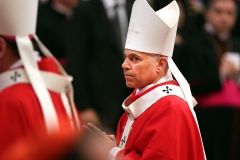 Archbishop of San Francisco Salvatore Joseph Cordileone attends the mass and imposition of the Pallium upon the new metropolitan archbishops held by Pope Francis for the Solemnity of Saint Peter and Paul at Vatican Basilica on June 29, 2013 in Vatican City, Vatican. (Photo credit: Franco Origlia/Getty Images)