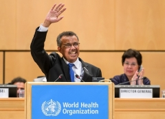 World Health Organization Director-General Tedros Adhanom was elected to the post in May 2017. (Photo by Fabrice Coffrini/AFP via Getty Images)