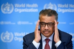 World Health Organization Director-General Tedros Adhanom. (Photo by Fabrice Coffrini/AFP via Getty Images)