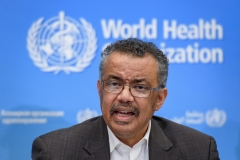 WHO Director General Dr. Tedros Adhanom Ghebreyesus.  (Getty Images)