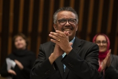 World Health Organization director-general Tedros Adhanom at Tuesday's World Health Assembly. (Photo: WHO)