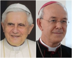 Pope Benedict XVI, retired, and Bishop Athanasius Schneider.