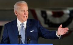Democrat presidential hopeful former Vice President Joe Biden speaks in Philadelphia on March 10, 2020. (Photo by MANDEL NGAN/AFP via Getty Images)