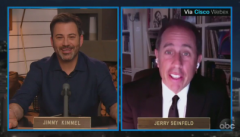 "Comedian Jerry Seinfeld appeared on ""Jimmy Kimmel Live"" on May 5, 2020. (Photo: Screen capture)"