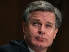 FBI Director Christopher Wray has not been forthcoming about what went on before his tenure. (Photo by Mark Wilson/AFP via Getty Images)