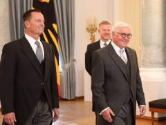 U.S. Ambassador to Germany Richard Grenell presents his credentials to German President Frank-Walter Steinmeier in Berlin on Tuesday, May 8, 2018. (Photo: U.S. Embassy Berlin)