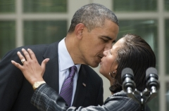 Newly appointed National Security Advisor Susan Rice is embraced by President Barack Obama on June 5, 2013. (Photo by JIM WATSON/AFP via Getty Images)