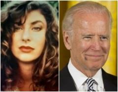 Tara Reade and former Vice President Joe Biden.  (Screenshot and Getty Images)