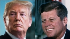 President Donald Trump and former President John F. Kennedy.  (Getty Images)