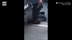 Bystander video of a Minneapolis police officer kneeling on the neck of George Floyd as he warns he cannot breathe. (Screen capture from video)