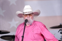 """Charlie Daniels performs during FOX News Channel's """"FOX & Friends"""" All-American Summer Concert Series. (Photo credit: Gary Gershoff/Getty Images)"""
