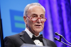 U.S. Senate Minority Leader Chuck Schumer (D-NY) speaks at the 23rd Annual Human Rights Campaign National Dinner at the Washington Convention Center. (Photo credit: Paul Morigi/Getty Images)