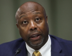 Sen. Tim Scott (R-SC) speaks during the Senate Committee for Health, Education, Labor, and Pensions hearing to examine COVID-19 and Safely Getting Back to Work and Back to School on May 12, 2020 in Washington, DC. (Photo by WIN MCNAMEE/POOL/AFP via Getty Images)