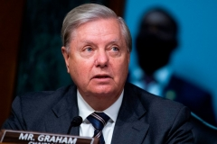 "Chairman Lindsey Graham, R-S.C., makes an opening statement during the Senate Judiciary Committee hearing titled ""Police Use of Force and Community Relations,"" in Dirksen Senate Office Building in Washington, DC, on Tuesday, June 16, 2020. (Photo by TOM WILLIAMS/POOL/AFP via Getty Images)"