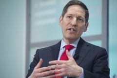 Dr. Tom Frieden,  former director of the Center for Disease Control and Prevention (CDC), speaks about the Zika outbreak at the New America think tank in Washington, DC, on July 13, 2016. (Photo by SAUL LOEB/AFP via Getty Images)