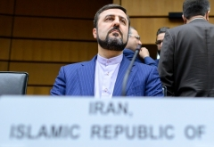 The Iranian regime's ambassador to the IAEA in Vienna, Kazem Gharib Abadi. (Photo by Joe Klamar/AFP via Getty Images)