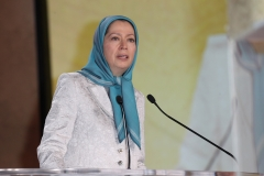 Maryam Rajavi, president-elect of the National Council of Resistance of Iran (NCRI), speaks at the Tolerant & Democratic Islam vs Fanaticism & Extremism Dinner in 2015. (Photo credit: Antonio de Moraes Barros Filho/Getty Images)