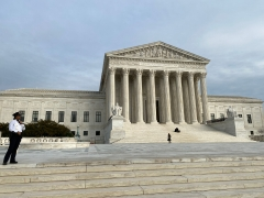 Pictured is the Supreme Court in Washington, D.C., the site of two recent decisions that some have seen as bizarre, given the Bench's conservative majority. (Photo credit: DANIEL SLIM/AFP via Getty Images)