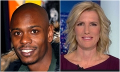 Dave Chappelle and Laura Ingraham.  (Getty Images)