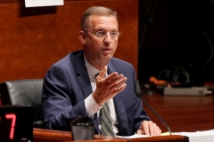 Rep. Doug Collins (R-GA) asks questions during a hearing on Capitol Hill in Washington, DC on June 10, 2020 of the House Judiciary Committee about policing practices and law enforcement accountability prompted by the death of George Floyd while in police custody. (Photo by GREG NASH/POOL/AFP via Getty Images)
