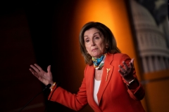 Speaker of the House Nancy Pelosi (D-CA) speaks during a weekly press briefing on Capitol Hill June 26, 2020, in Washington, DC. (Photo by BRENDAN SMIALOWSKI/AFP via Getty Images)