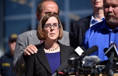 Oregon Governor Kate Brown (Photo by Josh Edelson/AFP via Getty Images)