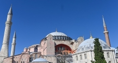 The Hagia Sophia is among Istanbul's best-known landmarks. (Photo by Ozan Kose/AFP via Getty Images)