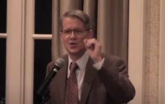 Dr. Mike Adams, former University of North Carolina at Wilmington criminology professor, talks about free speech on campus. (Photo credit: YouTube/The James G. Martin Center)