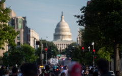 Black Lives Matter protesters march through the streets near the U.S. Capitol. (Photo credit: ANDREW CABALLERO-REYNOLDS/AFP via Getty Images)