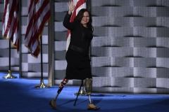 Former Rep., now Sen. Tammy Duckworth of Illinois is being mentioned as a possible running mate for Joe Biden. (Photo by SAUL LOEB/AFP via Getty Images)