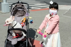 Even children wear face masks as New York City reopens. (Photo by Ira L. Black/Corbis via Getty Images)