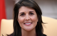 Nikki Haley is the former United States Ambassador to the United Nations (Photo by OLIVIER DOULIERY/AFP via Getty Images)