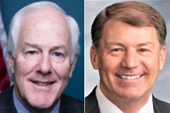 Sen. John Cornyn (R-Texas), left, and Sen. Mike Rounds (R-S.D.).