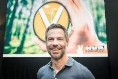 Michael Shellenberger at an ecology event in Belgium last year. (Photo by James Arthur Gekiere/AFP via Getty Images)
