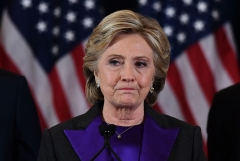 Former Democratic presidential candidate Hillary Clinton (Photo by JEWEL SAMAD/AFP via Getty Images)